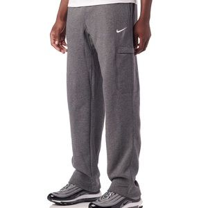Nike Fleece Sweatpants In Heathered Grey | size L